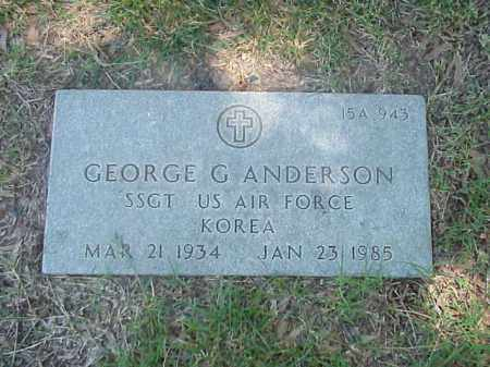 ANDERSON (VETERAN KOR), GEORGE G - Pulaski County, Arkansas | GEORGE G ANDERSON (VETERAN KOR) - Arkansas Gravestone Photos
