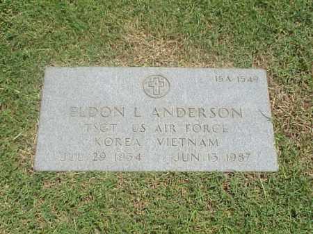 ANDERSON (VETERAN 2WARS), ELDON LEROY - Pulaski County, Arkansas | ELDON LEROY ANDERSON (VETERAN 2WARS) - Arkansas Gravestone Photos