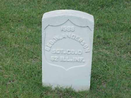 ANDERSON (VETERAN UNION), GEORGE W - Pulaski County, Arkansas   GEORGE W ANDERSON (VETERAN UNION) - Arkansas Gravestone Photos