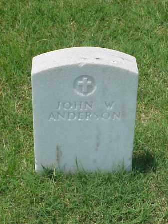 ANDERSON (VETERAN UNION), JOHN W - Pulaski County, Arkansas | JOHN W ANDERSON (VETERAN UNION) - Arkansas Gravestone Photos