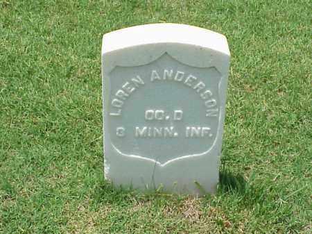 ANDERSON (VETERAN UNION), LOREN - Pulaski County, Arkansas | LOREN ANDERSON (VETERAN UNION) - Arkansas Gravestone Photos