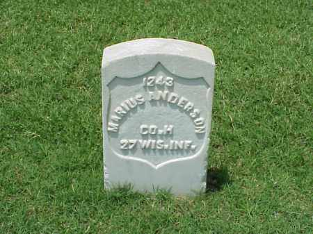 ANDERSON (VETERAN UNION), MARIUS - Pulaski County, Arkansas | MARIUS ANDERSON (VETERAN UNION) - Arkansas Gravestone Photos