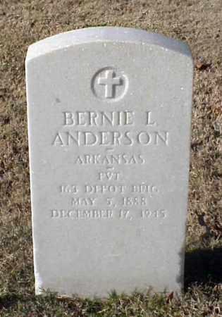 ANDERSON (VETERAN WWI), BERNIE L - Pulaski County, Arkansas | BERNIE L ANDERSON (VETERAN WWI) - Arkansas Gravestone Photos