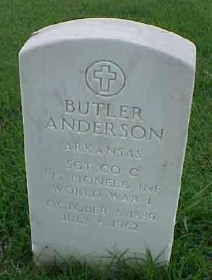 ANDERSON (VETERAN WWI), BUTLER - Pulaski County, Arkansas | BUTLER ANDERSON (VETERAN WWI) - Arkansas Gravestone Photos