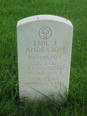 ANDERSON (VETERAN WWI), EMIL J - Pulaski County, Arkansas | EMIL J ANDERSON (VETERAN WWI) - Arkansas Gravestone Photos