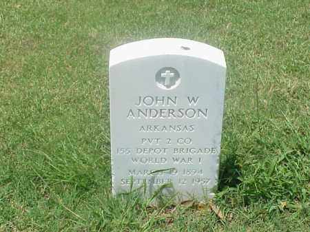 ANDERSON (VETERAN WWI), JOHN W - Pulaski County, Arkansas | JOHN W ANDERSON (VETERAN WWI) - Arkansas Gravestone Photos