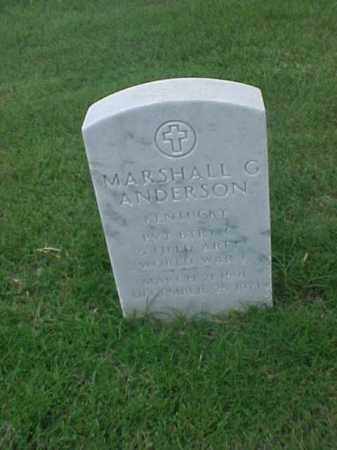 ANDERSON (VETERAN WWI), MARSHALL G - Pulaski County, Arkansas | MARSHALL G ANDERSON (VETERAN WWI) - Arkansas Gravestone Photos