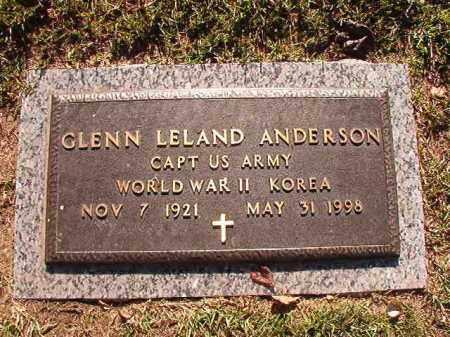ANDERSON (VETERAN 2WARS), GLENN LELAND - Pulaski County, Arkansas | GLENN LELAND ANDERSON (VETERAN 2WARS) - Arkansas Gravestone Photos
