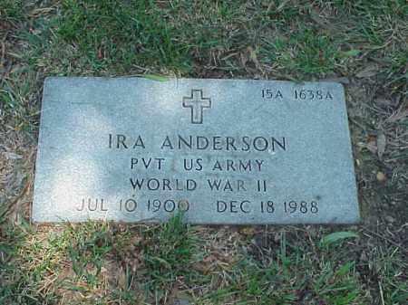ANDERSON (VETERAN WWII), IRA - Pulaski County, Arkansas | IRA ANDERSON (VETERAN WWII) - Arkansas Gravestone Photos