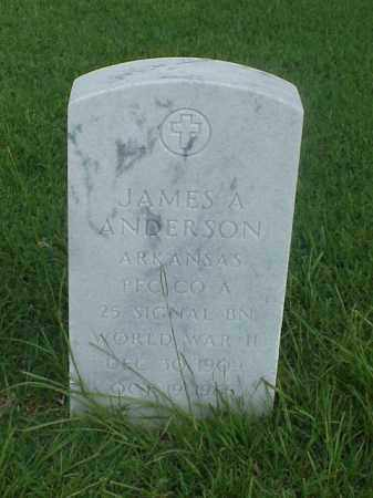 ANDERSON (VETERAN WWII), JAMES ARTHUR - Pulaski County, Arkansas | JAMES ARTHUR ANDERSON (VETERAN WWII) - Arkansas Gravestone Photos