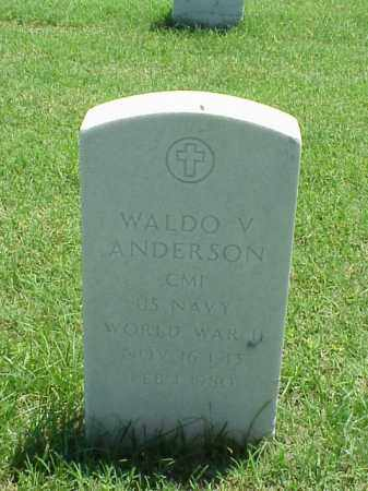 ANDERSON (VETERAN WWII), WALDO V - Pulaski County, Arkansas | WALDO V ANDERSON (VETERAN WWII) - Arkansas Gravestone Photos