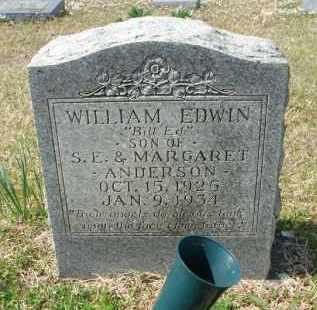 ANDERSON, WILLIAM EDWIN - Pulaski County, Arkansas | WILLIAM EDWIN ANDERSON - Arkansas Gravestone Photos