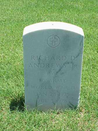 ANDREWS, JR (VETERAN WWII), RICHARD D - Pulaski County, Arkansas | RICHARD D ANDREWS, JR (VETERAN WWII) - Arkansas Gravestone Photos