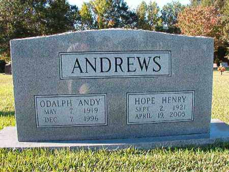 ANDREWS, HOPE - Pulaski County, Arkansas | HOPE ANDREWS - Arkansas Gravestone Photos