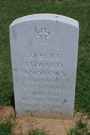 ANDREWS (VETERAN WWII), ALBERT EDWARD - Pulaski County, Arkansas | ALBERT EDWARD ANDREWS (VETERAN WWII) - Arkansas Gravestone Photos