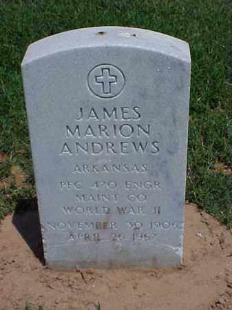 ANDREWS (VETERAN WWII), JAMES MARION - Pulaski County, Arkansas | JAMES MARION ANDREWS (VETERAN WWII) - Arkansas Gravestone Photos