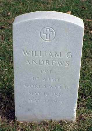 ANDREWS (VETERAN WWII), WILLIAM G - Pulaski County, Arkansas | WILLIAM G ANDREWS (VETERAN WWII) - Arkansas Gravestone Photos