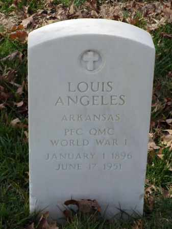 ANGELES (VETERAN WWI), LOUIS - Pulaski County, Arkansas | LOUIS ANGELES (VETERAN WWI) - Arkansas Gravestone Photos