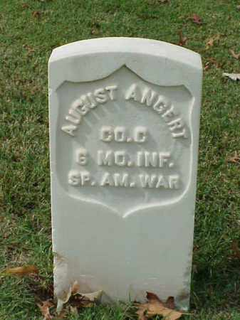 ANGERT (VETERAN SAW), AUGUST - Pulaski County, Arkansas | AUGUST ANGERT (VETERAN SAW) - Arkansas Gravestone Photos