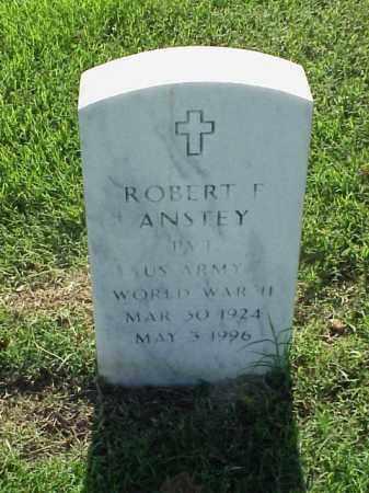 ANSTEY (VETERAN WWII), ROBERT F - Pulaski County, Arkansas | ROBERT F ANSTEY (VETERAN WWII) - Arkansas Gravestone Photos