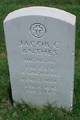 ANTHES (VETERAN WWI), JACOB C - Pulaski County, Arkansas | JACOB C ANTHES (VETERAN WWI) - Arkansas Gravestone Photos