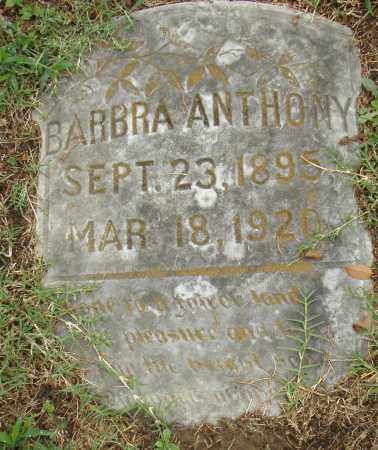 ANTHONY, BARBARA - Pulaski County, Arkansas | BARBARA ANTHONY - Arkansas Gravestone Photos