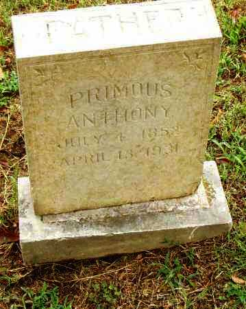 ANTHONY, PRIMOUS - Pulaski County, Arkansas | PRIMOUS ANTHONY - Arkansas Gravestone Photos