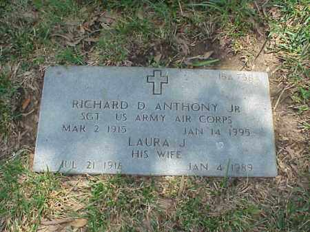 ANTHONY, JR (VETERAN WWII), RICHARD D - Pulaski County, Arkansas | RICHARD D ANTHONY, JR (VETERAN WWII) - Arkansas Gravestone Photos