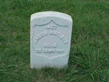 ANTIBUS (VETERAN UNION), JACOB - Pulaski County, Arkansas | JACOB ANTIBUS (VETERAN UNION) - Arkansas Gravestone Photos