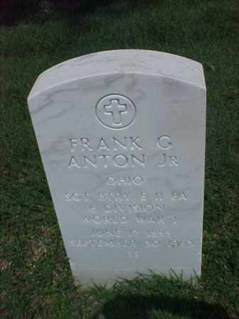 ANTON, JR (VETERAN WWI), FRANK G - Pulaski County, Arkansas | FRANK G ANTON, JR (VETERAN WWI) - Arkansas Gravestone Photos