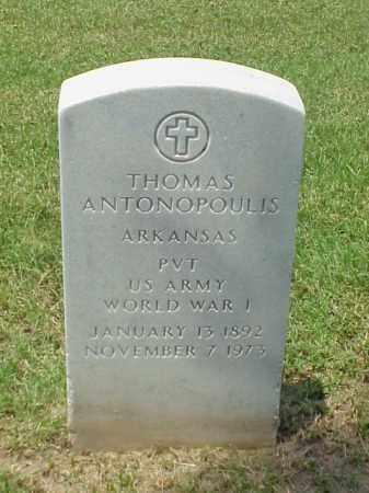 ANTONOPOULIS (VETERAN WWI), THOMAS - Pulaski County, Arkansas | THOMAS ANTONOPOULIS (VETERAN WWI) - Arkansas Gravestone Photos