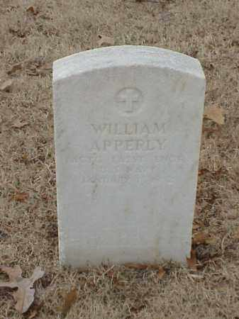 APPERLY (VETERAN), WILLIAM - Pulaski County, Arkansas | WILLIAM APPERLY (VETERAN) - Arkansas Gravestone Photos