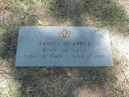 APPLE (VETERAN), JAMES H - Pulaski County, Arkansas | JAMES H APPLE (VETERAN) - Arkansas Gravestone Photos