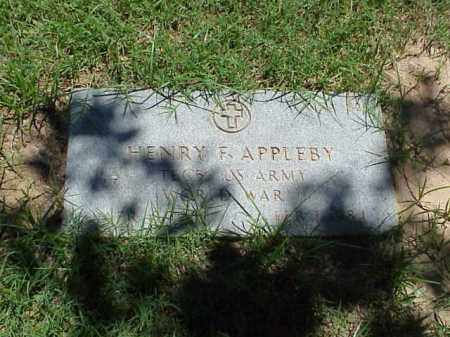 APPLENY (VETERAN WWII), HENRY F - Pulaski County, Arkansas | HENRY F APPLENY (VETERAN WWII) - Arkansas Gravestone Photos