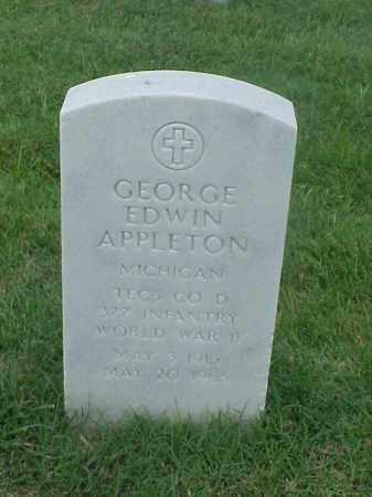 APPLETON (VETERAN WWII), GEORGE EDWIN - Pulaski County, Arkansas | GEORGE EDWIN APPLETON (VETERAN WWII) - Arkansas Gravestone Photos