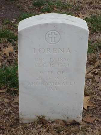 ARCHAMBEAULT, LORENA - Pulaski County, Arkansas | LORENA ARCHAMBEAULT - Arkansas Gravestone Photos