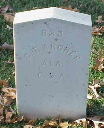ARCHER (VETERAN CSA), G T - Pulaski County, Arkansas | G T ARCHER (VETERAN CSA) - Arkansas Gravestone Photos