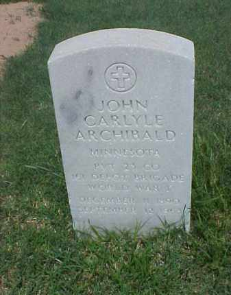 ARCHIBALD (VETERAN WWI), JOHN CARLYLE - Pulaski County, Arkansas | JOHN CARLYLE ARCHIBALD (VETERAN WWI) - Arkansas Gravestone Photos