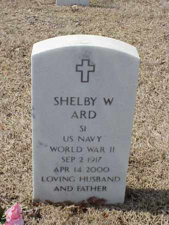 ARD  (VETERAN WWII), SHELBY W - Pulaski County, Arkansas | SHELBY W ARD  (VETERAN WWII) - Arkansas Gravestone Photos