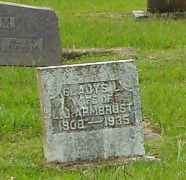 ARMBRUST, GLADYS L - Pulaski County, Arkansas | GLADYS L ARMBRUST - Arkansas Gravestone Photos