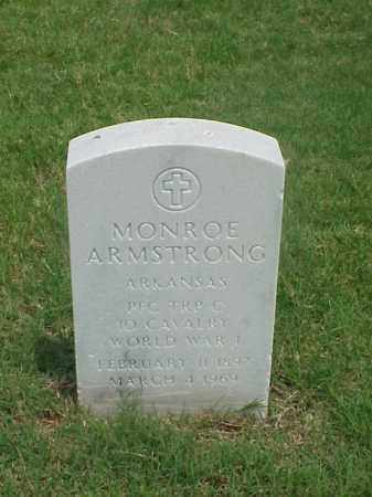 ARMSTRONG (VETERAN WWI), MONROE - Pulaski County, Arkansas | MONROE ARMSTRONG (VETERAN WWI) - Arkansas Gravestone Photos