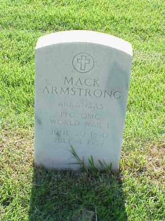 ARMSTRONG (VETERAN WWI), MACK - Pulaski County, Arkansas | MACK ARMSTRONG (VETERAN WWI) - Arkansas Gravestone Photos