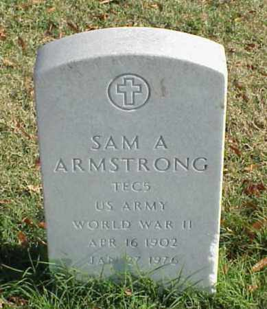 ARMSTRONG (VETERAN WWII), SAM A - Pulaski County, Arkansas | SAM A ARMSTRONG (VETERAN WWII) - Arkansas Gravestone Photos