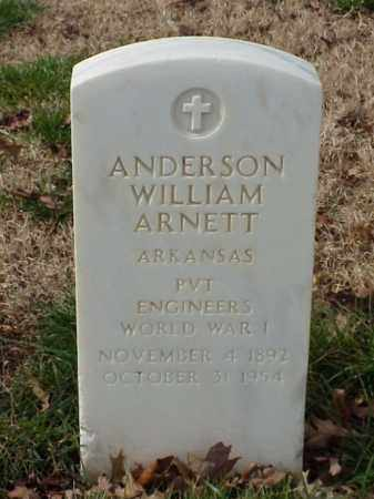 ARNETT (VETERAN WWI), ANDERSON WILLIAN - Pulaski County, Arkansas | ANDERSON WILLIAN ARNETT (VETERAN WWI) - Arkansas Gravestone Photos