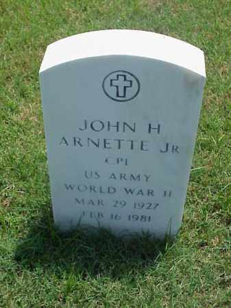 ARNETTE, JR (VETERAN WWII), JOHN H - Pulaski County, Arkansas | JOHN H ARNETTE, JR (VETERAN WWII) - Arkansas Gravestone Photos