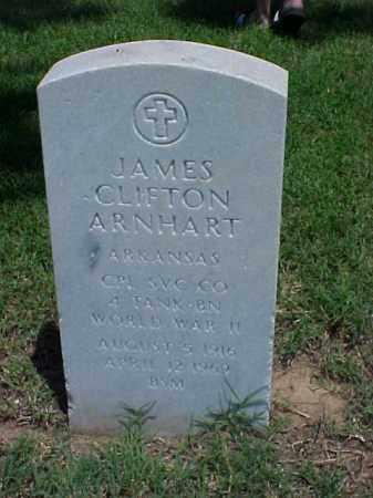 ARNHART (VETERAN WWII), JAMES CLIFTON - Pulaski County, Arkansas | JAMES CLIFTON ARNHART (VETERAN WWII) - Arkansas Gravestone Photos