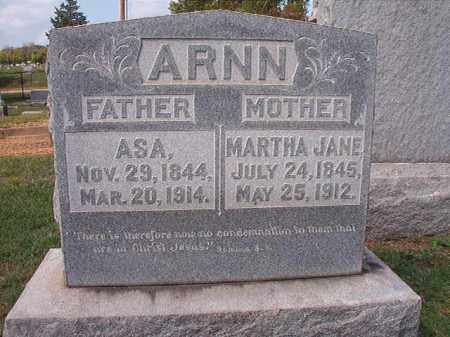 ARNN, MARTHA JANE - Pulaski County, Arkansas | MARTHA JANE ARNN - Arkansas Gravestone Photos