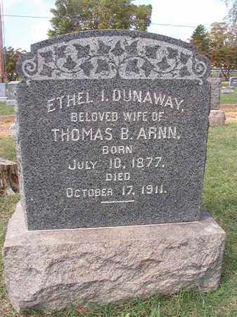 DUNAWAY ARNN, ETHEL I - Pulaski County, Arkansas | ETHEL I DUNAWAY ARNN - Arkansas Gravestone Photos