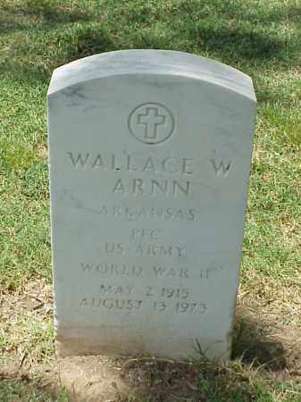 ARNN (VETERAN WWII), WALLACE W - Pulaski County, Arkansas | WALLACE W ARNN (VETERAN WWII) - Arkansas Gravestone Photos