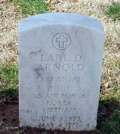 ARNOLD (VETERAN 2WARS), EARL D - Pulaski County, Arkansas | EARL D ARNOLD (VETERAN 2WARS) - Arkansas Gravestone Photos